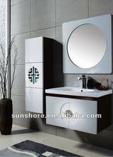 SUNSHORE modern design solid wood bathroom cabinet