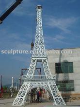 metal stainless Steel Eiffel Tower sculpture