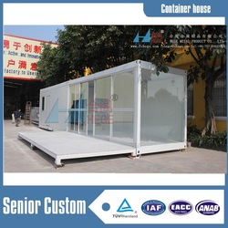 40ft container shop , 20ft flat packed living container house , sandwich panel container office