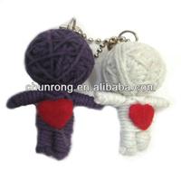 Unique Fabric String Dolls,mini voodoo doll angel, keychain Voodoo Dolls