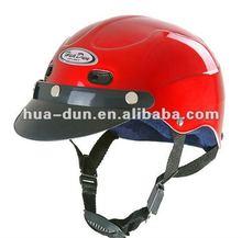 HUADUN Half Face Motorcycle Helmet, red helmet, ABS or PP martiral, cheap motorcycle helmet HD-318