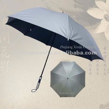 Dark Blue UV Coated Manual Golf Umbrella
