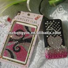 Custom adhesive crystal cellphone case