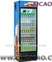 Commercial Large Display Compressor Refrigerator , 360L Store Beverage Selling Cooler Freezer with Cutomize Logo for Supermarket