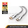 Premium nuevo 24k chapado en oro hdmi cable 2160p 3d ultra apoyo de alta definición hdmi hdmi 2.0 1.4