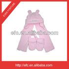 Latest Polar Fleece Baby Scarf Hat Gloves Set