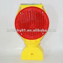 solar yellow LED barrier warning light