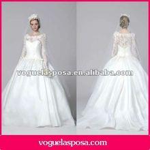 Ball gown princess long sleeves wedding dresses