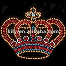 YE-410 crown iron on rhinestone patterns