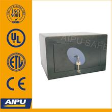 European quality Home & Office safes F350-K/ single wall / fire proof / Lazer cut door / Key lock / Black / EN14450 -S2 .