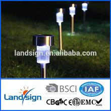 XLTD-936-2 china manufacturer Cixi Landsign mini stainless steel white led garden solar light