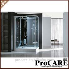 Tempered glass steam shower cabins, steam shower room with ozonator /italian steam shower cabin