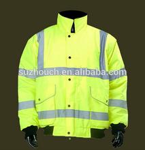 High Visibility safety rain waterproof reversible jacket