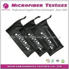 custom logo silk pouch, soft case sunglasses ,microfiber pouch with drawstring