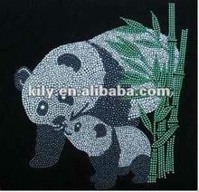 2015 new YE-521 animal/panda rhinestone transfers wholesale