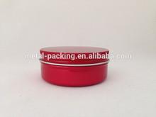 AL-150-1 red aluminum round tin boxes for face cream