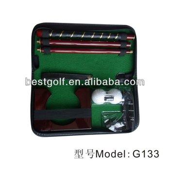 Leather box golf putter set G133