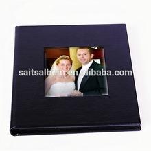 Custom leather wedding DVD storage case 2 disc CD case manufacturer