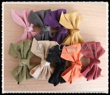 western hair bow for girls, comfortable felt fabric cute bow