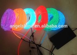 flexible el wire, flashing el wire, on/slow flash/fast flash/off