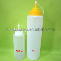 LDPE Soft Hot Sale Peanut Plastic Sauce Ketchup Bottles With Existed Mold
