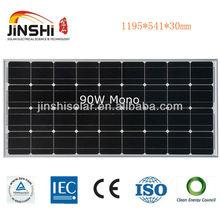 90w Monocrystalline Solar Panel with Black Anodized Aluminum Frame