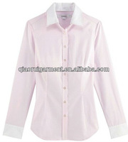 2015 Slim fit Trendy design High quality long sleeve women/ladies shirt