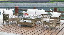 New Design 100% Handmade Outdoor outdoor rattan cube sofa set light brown
