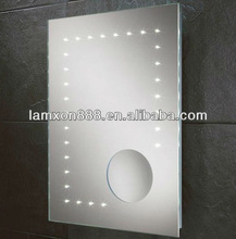 Wall mount lighted magnifying vanity mirror