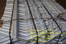 50x30x2.5mm/60x40x2.5mm/70x50x2.5mm galvanized steel angle 45 30 V bend U channel fence post