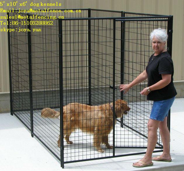 5'x10'x6' powder coated easily installation medium and big dog kennels