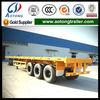 2/3 axles 40feet container carrier flatbed semi trailer (platform truck trailer with 12 twist lock)