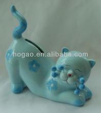 2014 porcelain Cat Money saving box