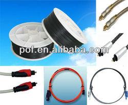 PMMA fiber optic cable different connector, optical fiber interconnect