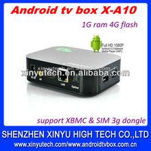 Android 4.0 media player,1080P,Cotex-A8 ,hd iptv recorder wifi,XBMC X-A10 Aliexpress