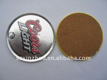 tin cork coaster set