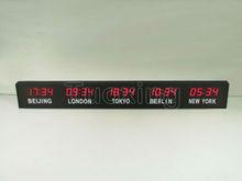 led world time zone clock