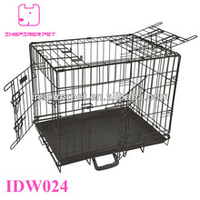 Wire Dog Crate Pet Cage 3 Doors Top Open Wall Divider