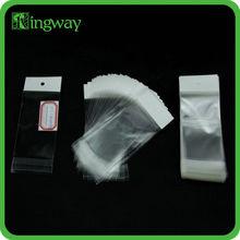 custom printed bopp self-adhesive cheap clear plastic cosmetic card opp bag with header card