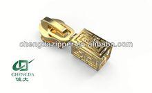 2014 new fashion gold zipper slider