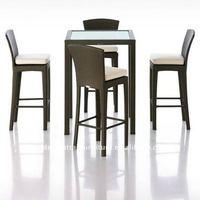 Rattan bistro set - Outdoor bar furniture