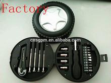 car wheel tyre shape tool kit for promotion