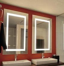 Electrical hotel project vanity LED lighted wall bathroom mirrors