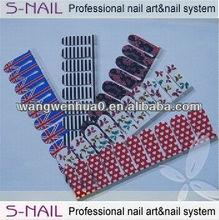 hot sell Nail polish strips, nail polish sticker, 100% real nail polish