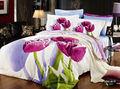2013 venda quente 3d floral colcha capa de edredon jogo do fundamento conjunto duvet cover verde e rosa