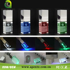 Cheap! Promotional Advertising USB, Colorful Crystal Light usb flash drive 128MB to 128 GB Sample available