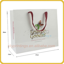 2013 newly design 3d paper bag design printing 3D butterfly paper bag