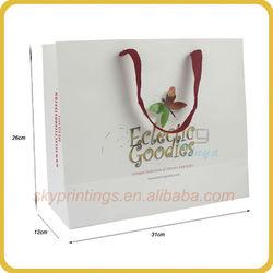 2013 newly design 3d paper bag design printing 3D butterfly paper bag