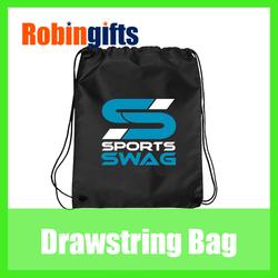 Promotional polyester drawstring bag/drawstring backpack/ draw string bag