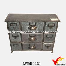 Vintage industrial furniture metal storage cabinet